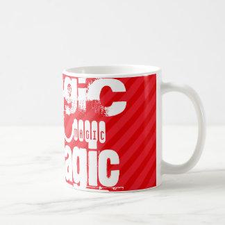Magic; Scarlet Red Stripes Classic White Coffee Mug
