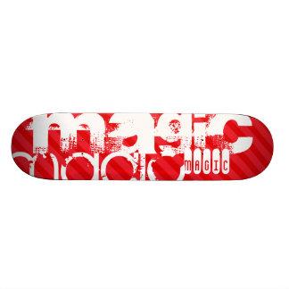 Magic; Scarlet Red Stripes Skate Board Decks