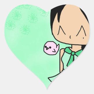 Magic schoolgirl overload! heart sticker
