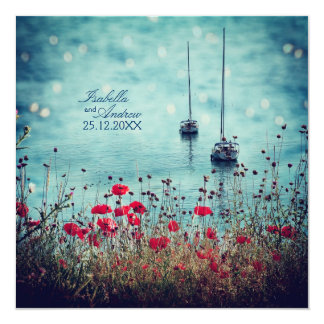 Magic Sea of Love - Wedding 5.25x5.25 Square Paper Invitation Card