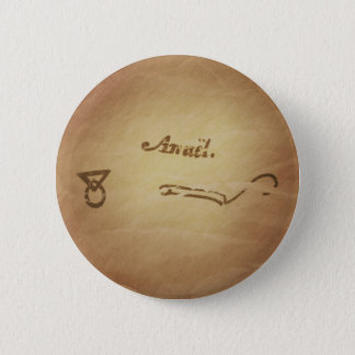 Magic Seal Angel Anael Protection Magic Charms Pinback Button