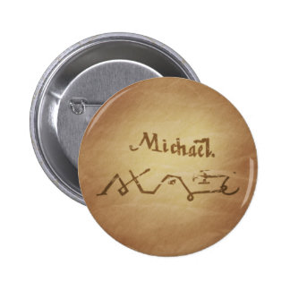 Magic Seal Angel Michael Protection Magic Charms 2 Inch Round Button