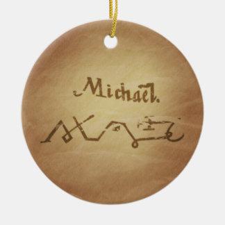 Magic Seal Angel Michael Protection Magic Charms Ceramic Ornament