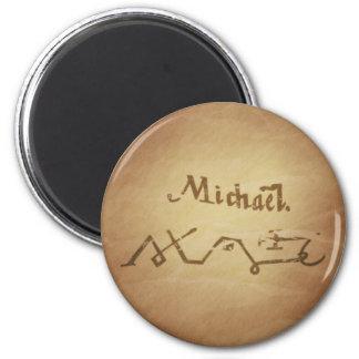 Magic Seal Angel Michael Protection Magic Charms Fridge Magnet