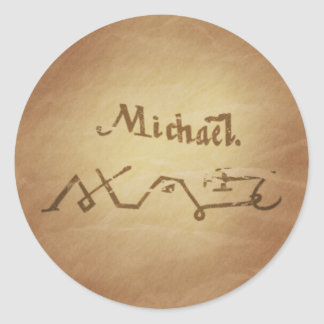 Magic Seal Angel Michael Protection Magic Charms Classic Round Sticker