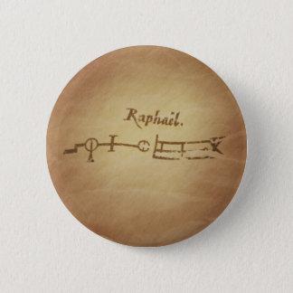 Magic Seal Angel Raphael Protection Magic Charms Button
