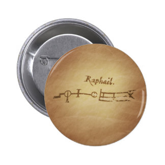 Magic Seal Angel Raphael Protection Magic Charms Button