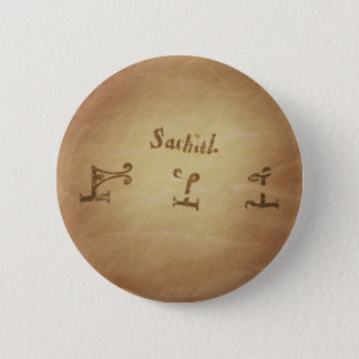 Magic Seal Angel Sachiel Protection Magic Charms Pinback Button