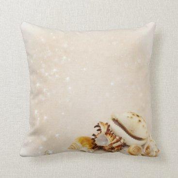 Beach Themed Magic Shells Throw Pillow