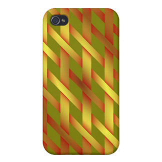 Magic shiny golden tennis racket strings iPhone 4 covers