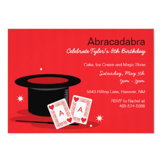 Magic Show Birthday Invitations