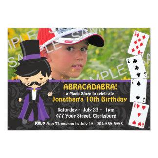 Magic Show Birthday Party 5x7 Paper Invitation Card