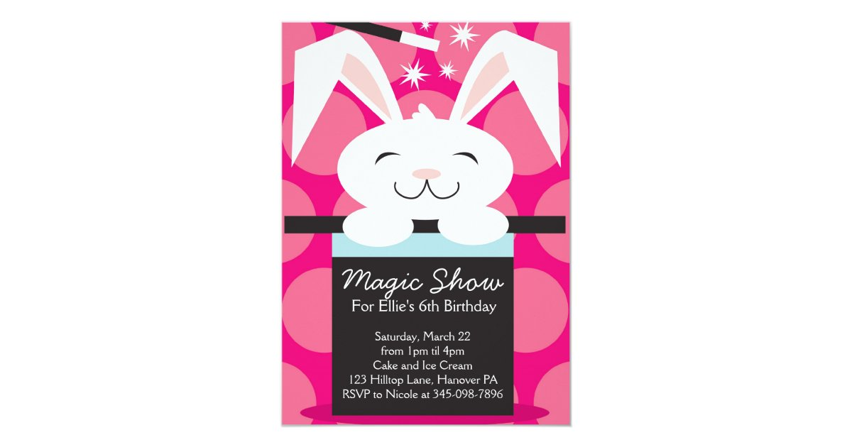 Magic Show Birthday Party Invitations | Zazzle.com