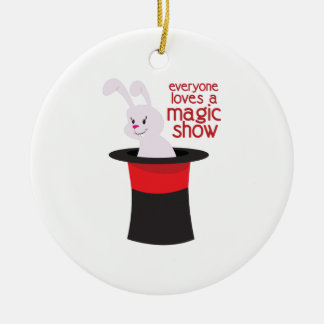Magic Show Double-Sided Ceramic Round Christmas Ornament