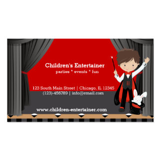 Magic Show Double-Sided Standard Business Cards (Pack Of 100)