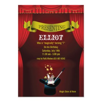 Magic Show Invitation