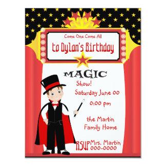 Magic Show 4.25x5.5 Paper Invitation Card