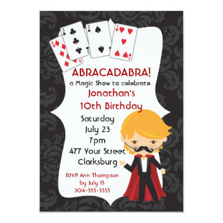 Magic Show 5x7 Paper Invitation Card