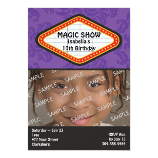 Magic Show Marquee Birthday Party 5x7 Paper Invitation Card