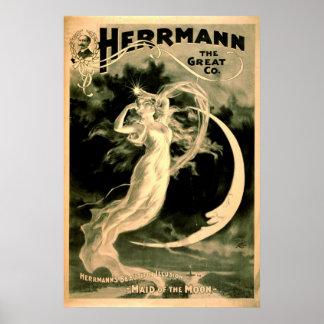 Magic Show Playbill 1898 Print