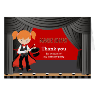Magic Show Thank you Cards