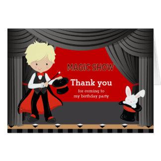 Magic Show Thank you Card