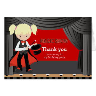 Magic Show Thank you Greeting Cards