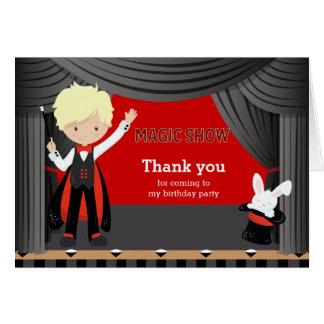 Magic Show Thank you Greeting Card