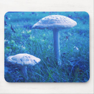 Magic Shroom In Blue Mouse Pad
