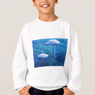 Magic Shroom In Blue Sweatshirt