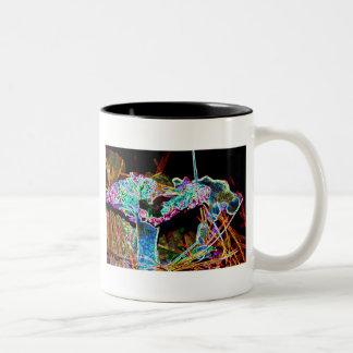 Magic Shroom Two-Tone Coffee Mug