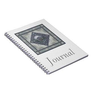 Magic Snowflake Denim Look Spiral Notebook