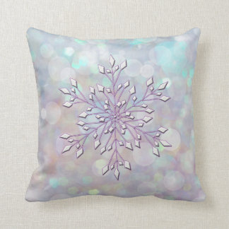 *~* Magic Snowflake Inner Peace Blue Lavender Throw Pillow