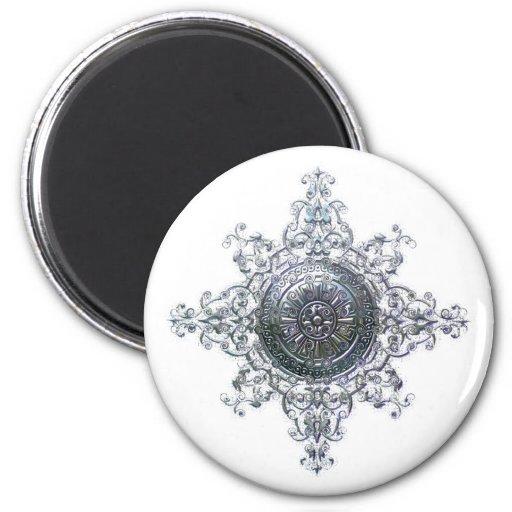 Magic Snowflake Refrigerator Magnet