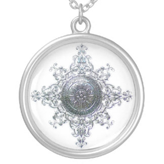 Magic Snowflake Silver Plated Necklace