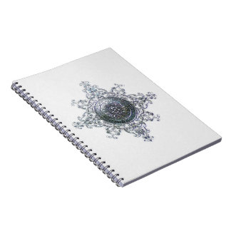 Magic Snowflake Spiral Notebook