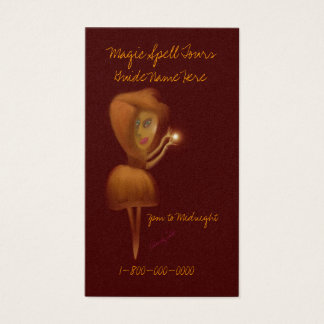 Magic Spell Tour Guide Business Card