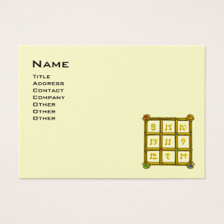 MAGIC SQUARE 33 ,Black and Gold Metallic Paper Business Card