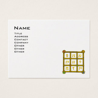 MAGIC SQUARE 33 ,Black and White Pearl Paper Business Card
