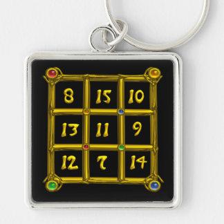 MAGIC SQUARE 33 , Black Keychain