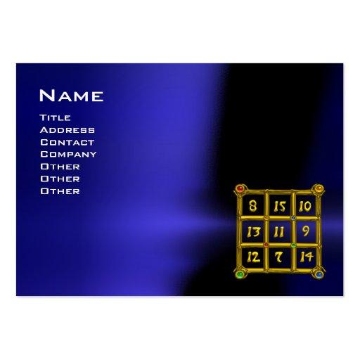 Magic square 33 blue black business card template zazzle for Business card tricks