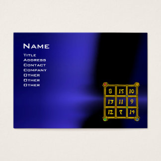 MAGIC SQUARE 33 , Blue Black Business Card
