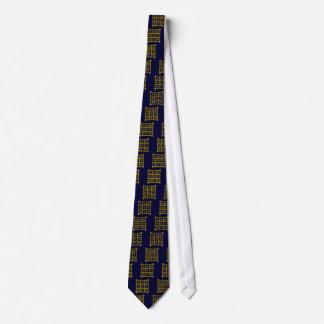 MAGIC SQUARE 33, blue Neck Tie