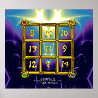 MAGIC SQUARE 33 ,Blue Purple Poster