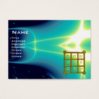 MAGIC SQUARE 33 , Blue Turquase Business Card