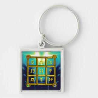 MAGIC SQUARE 33 , Blue Turquase Keychain