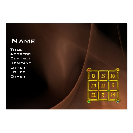 MAGIC SQUARE 33 , Brown Black Large Business Cards (Pack Of 100)