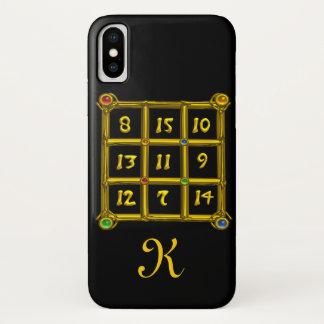 MAGIC SQUARE 33 MONOGRAM Black iPhone X Case