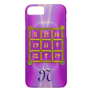 MAGIC SQUARE 33 MONOGRAM Pink Fuchsia, Purple iPhone 8/7 Case
