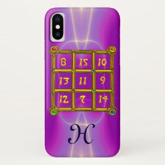 MAGIC SQUARE 33 MONOGRAM Pink Fuchsia, Purple iPhone X Case